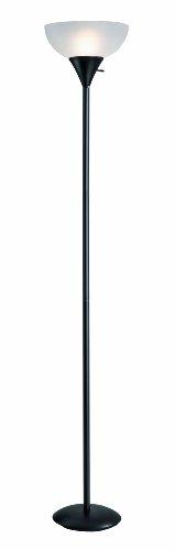 Normande Lighting JS1-161 Torchiere Floor Lamp, Black