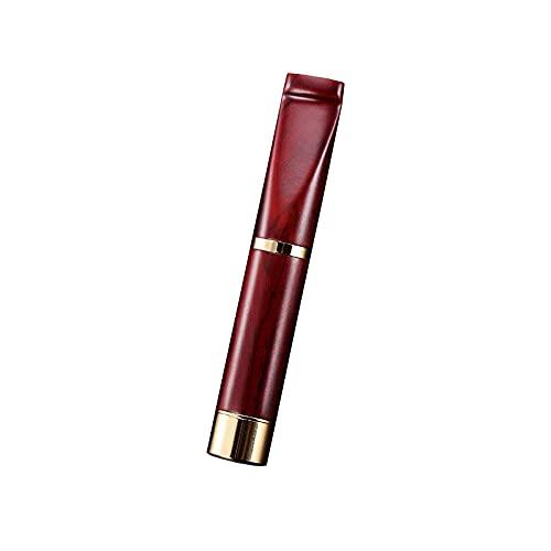 Cigaretthållare för män med cirkulerande tvättbart filter, cigarettrenare sandelträhållare, utsökt presentförpackning-röd