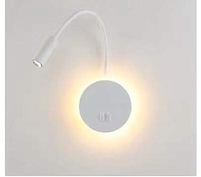 ✔ Colores claros: blanco cálido (3000K), la potencia:3W+8W, Longitud de cuello de ganso flexible:35cm, Dimensiones del chasis : 14x14cm, material: aluminio,Voltaje: 85-265V. ✔ 2 interruptores de palanca para que pueda controlar ambas Fuente de luz in...