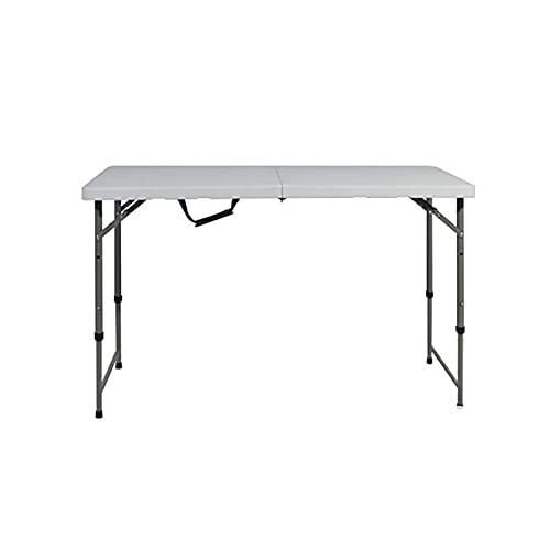 OMVOVSO Campingtisch, Klapptisch Faltbarer Und Höhenverstellbarer Gartentisch Aus Aluminium Keine Montage Und Leicht Zu Tragen,Weiß