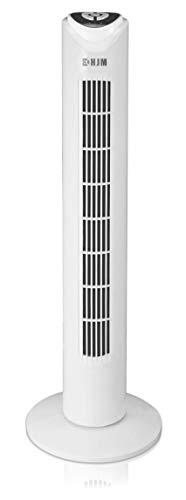 Hjm TF40RC Ventilador Torre, 50 W, Plástico, 3 Velocidades, Blanco
