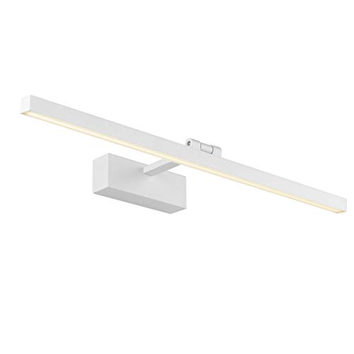 Klighten LED Spiegellampe, 180 Grad Drehung Innen wandleuchten, hohe helle 14W 61cm LED Wandlampe, 2700K-3000K, Weiß