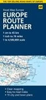 Europe Route Planner (AA Road Map Europe Series)
