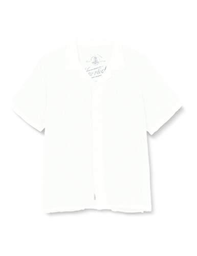Herrlicher Herren Resor Linen Uni Hemd, White 10, L