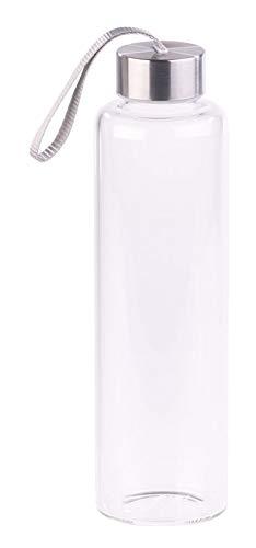 PEARL Glastrinkflasche: Trinkflasche aus Borosilikat-Glas, 550 ml, spülmaschinenfest, BPA-frei (Glasflasche spülmaschinenfest)