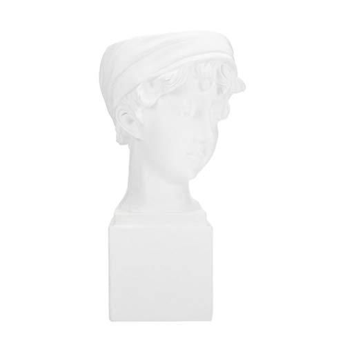 Hemoton 1 Pieza de Maceta de Cabeza Maceta de Cara Suculenta Maceta de Cerámica Maceta de Cara Maceta de Escultura de Estatua Griego Estatuilla Decoración de Cactus Maceta de Planta Hogar
