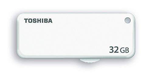 Toshiba U203 - Tarjeta de Memoria de 32 GB (De plástico, 0-50 °C, -20-60 °C, USB) Color Blanco