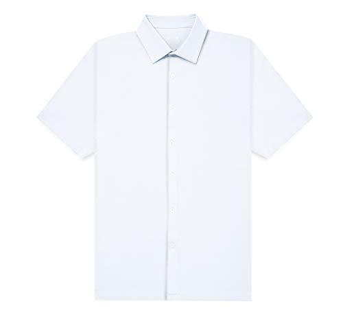 fun. [Amazon限定ブランド] AIRCTIVE メンズ ポロシャツ オープンシャツ WHITE 3L 帝人フロンティア企画