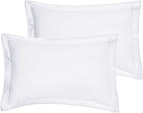 saharbeddings Boudoir Pillow Shams Set of 2 Piece White Indoor/Outdoor Soft Travel Pillow Cover's Envelope Closure 500 Thread Count 100% Egyptian Cotton (Boudoir 12″ x 16″ + 2″ White)