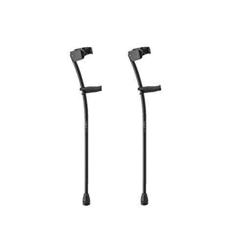 Thomas Fetterman Custom Black Phantom Carbon Fiber Crutches with LiteStix Cuff and Tornado Air Tips (Pair)