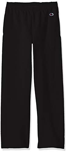 Champion Big Boys Double Dry Fleece Sweatpant, Black, Large