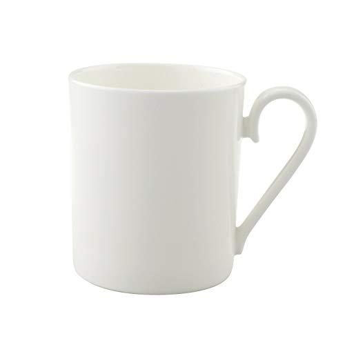 Villeroy & Boch - Royal Kaffeebecher, Edle Kaffeetasse aus Premium Bone Porzellan, spülmaschinenfest, 300 ml