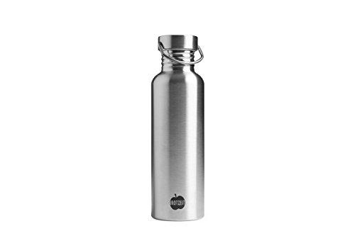 Brotzeit 9120084850153 Trinkflasche Wasserflasche Flasche aus Edelstahl 750ml, Silber