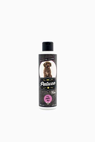 Petuxe Champú Vegano para Perros de Agua. Champú Vegano Perros. Texturizador Perro de Agua. Champú Mascotas. Lavante, hidratante y vitalizante (200 ml)