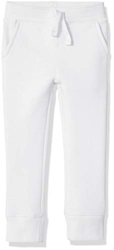Amazon Essentials Fleece Jogger Pantaloni, Bianco, 2T