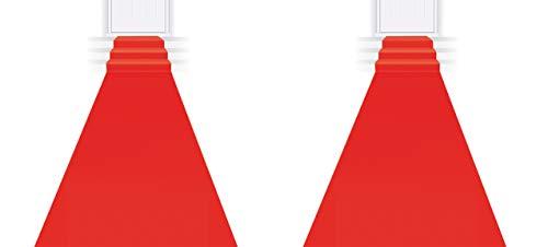 Beistle Novelty - Alfombra roja para pasillo de 2 piezas, suministros para la noche de premios VIP Hollywood, alfombra de pasarela de Navidad para fiestas de vacaciones, decoración de entrada de boda, 24 pulgadas x 15 pies