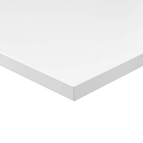 boho office® Tischplatte, Schreibtischplatte 160 x 80 x 2.5 cm in Lichtgrau (RAL7035) mit hoher Kratzfestigkeit und 120 kg Belastbarkeit