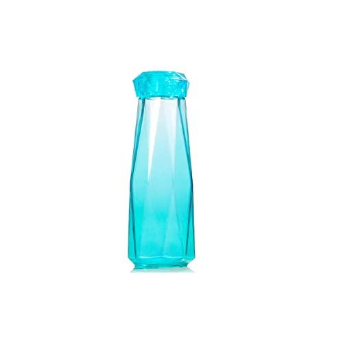 DSISI Botellas de Agua de Vidrio de 12 oz, Botella de Vidrio para Beber, Botellas de Jugo de Jarra con Tapas a Prueba de Fugas, 1 Unidad