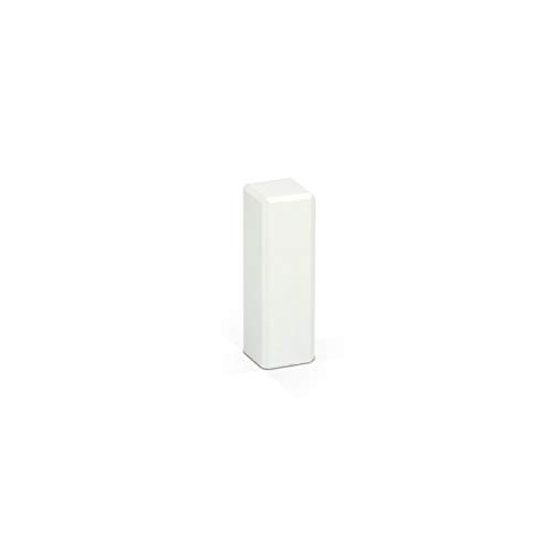 KGM Eckturm 4er Vorteilspack | Höhe 65mm | ✓Massiv ✓Echtholz weiß ✓weiß lackiert | Außenecken Innenecken & Leisten Verbinder | Saubere Übergänge zwischen Ihren Sockelleisten | Ecktürme weiß