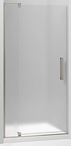 KOHLER 707531-D3-BNK Revel Shower door, Frosted glass with Anodized Brushed Nickel frame