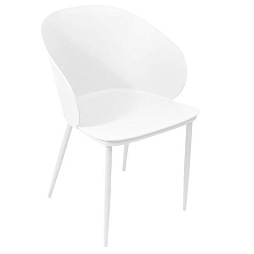 iDiffusion - Sillón de diseño con carcasa de alimentación, color blanco