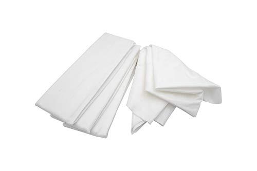 4er SET Passiertuch Seihtuch 75 x 70 cm Knödeltuch klassische feingewebte Tücher in Weiß wiederverwendbar mit hoher Reißfestigkeit selbst bei hoher Feuchtigkeit