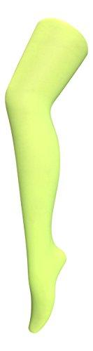 Sock Snob, Damen-Strumpfhose, 40Denier, Neonfarbe, blickdicht Gr. Medium, neongelb