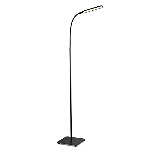 TaoTronics Stehlampe LED Dimmbar 10W Stehleuchte für Wohnzimmer Schlafzimmer, hohe 30.000 Stunden Lebensdauer, 4 Farbtemperaturen, 4 Helligkeitsstufen, Flexibler Schwanenhals, Schwarz, TT-DL072 DE