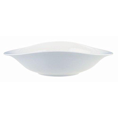 Villeroy & Boch Dune Pasta Set / Hochwertige Schalen aus Premium Porcelain in Weiß / Spülmaschinen- und mikrowellenfest / 4 teilig für 4 Personen