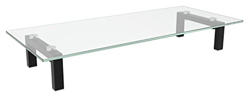 RICOO FS8235-C Soporte TV de Cristal Elevador televisión Pedestal para Mesa Base...