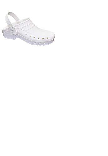 Zueco Unisex de la Marca DIAN, en polímero Color Blanco - 02S-43 (35 EU, Blanco)