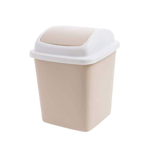 Khmyi Mini-vuilnisemmer, bijzettafel, papieren tafel, creatieve tafel voor thuis, tafel van kunststof, mini-afvalemmer met deksel, prullenbak