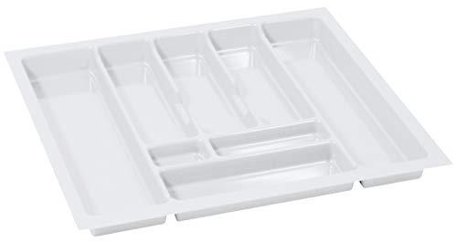Organizador Cubiertos Cubertero para Cajon de 70 Bandeja de Cubiertos 630 x 490 mm Organizador Cajones Cocina Blanco