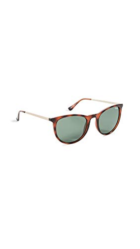 Quay Women's Great Escape Polarized Sunglasses, Tort/Green Lens, One Size