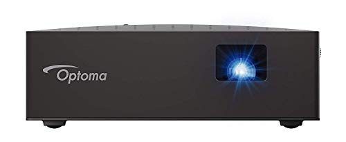 Optoma LV130 Mini Projector, Bright and Ultra Portable LED Cinema in Your Pocket, 4.5 Hour Built-in Battery, HDMI, USB, DLP Projector with Amazing Colors (Renewed)
