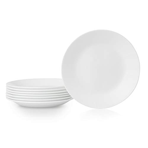 Corelle Bread Plates, 8-Piece, Winter Frost White