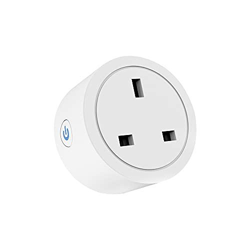 aixi-SHS ZigBee 3.0 Smart Plug Smart Life APP Control de encendido/apagado Medición de potencia KWh, mA, W. V, cuenta atrás programaciones de circulación de temporizadores, compatible con Amazon Alexa
