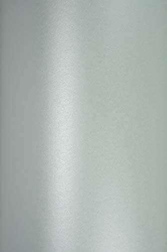 Netuno 10 Blatt Perlmutt-Azur-Blau Glanz-Papier DIN A5 210×148mm 120g Majestic Damask Blue Feinpapier glänzend Perlmutt-Papier Effektpapier metallic hohe Qualität für Inkjet und Laser Drucker