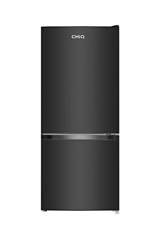 CHiQ FBM117L - Frigorífico Combi117L (87 + 30), Altura 1.14m, Low Frost, Puertas Reversibles, Color Negro, 38 db, compresor con 12 años de garantia
