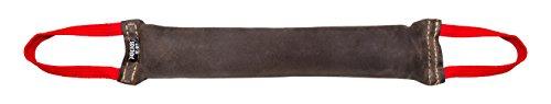 Julius-K9, 18545, Beisswurst, Leder 45 cm x 7 cm, innen genäht, zwei Handschlaufen