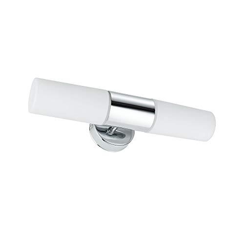 Paulmann 70350 WallCeiling Lenia IP44 max.2x20W E14 Chrom/Opak 230V Metall/Glas Spiegelleuchte Spiegellampe Wandleuchte 703.50