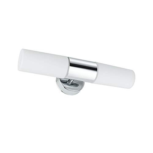 Paulmann 70350 WallCeiling Lenia IP44 max.2x40W E14 Chrom/Opak 230V Metall/Glas Spiegelleuchte Spiegellampe Wandleuchte 703.50