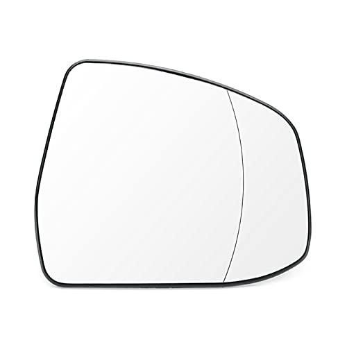 BYWWANG Reemplazo de la Lente de Cristal del Espejo retrovisor calefactado del ala Lateral de la Puerta Delantera RHD, para Ford Focus 2008-2018