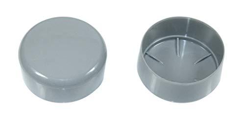 SN-TEC Rohrkappe/Fußkappe/Pfostenkappe in Grau für Rundrohr 75-76mm = 3 Zoll z.b. für Fahnenstangen (1 Stück)