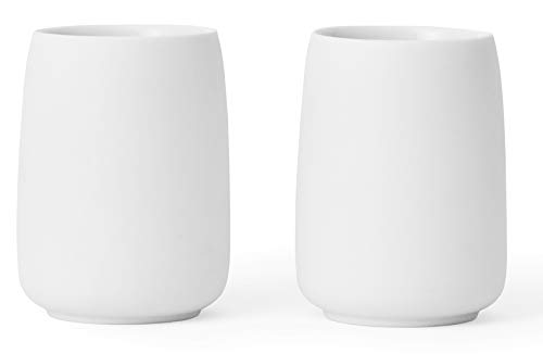 Viva Scandinavia 9102151 Lot de 2 Tasses en porcelaine Blanche 17 cl, Blanc
