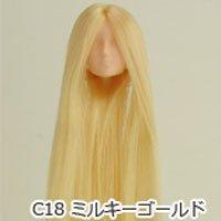 オビツボディ 27cmボディ用植毛ヘッド02 ナチュラル ミルキーゴールド