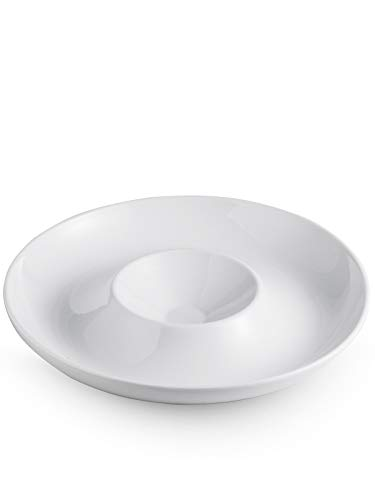 Porcelain Chip and Dip Serving Set Divided Serving Trays Appetizers and Cheeses Serving Platter Compartment Dish 12-inch set of 1