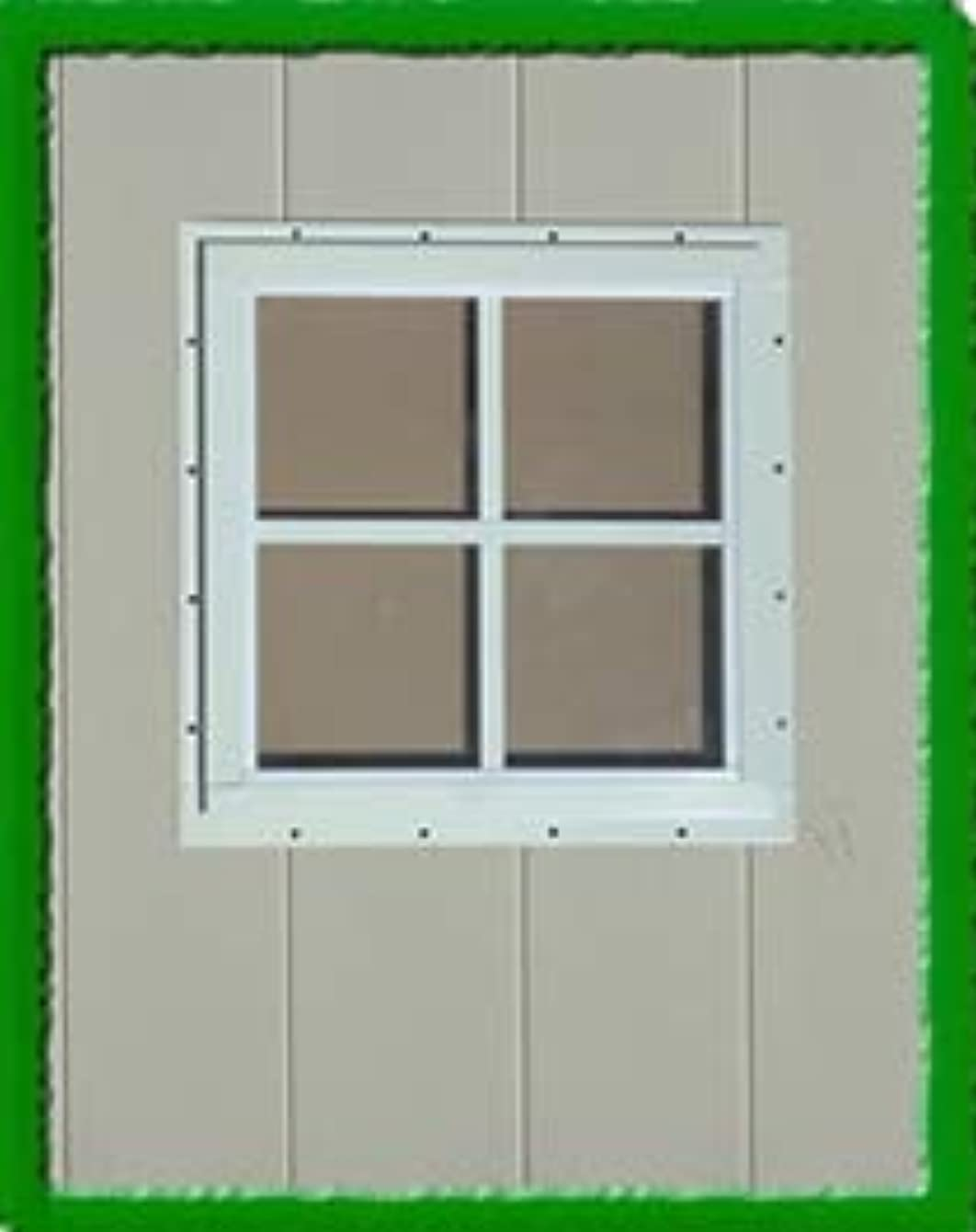 OUTDOOR PLAY AND STORAGE Square SHED WINDOW-12X12-BROWN-J-LAP
