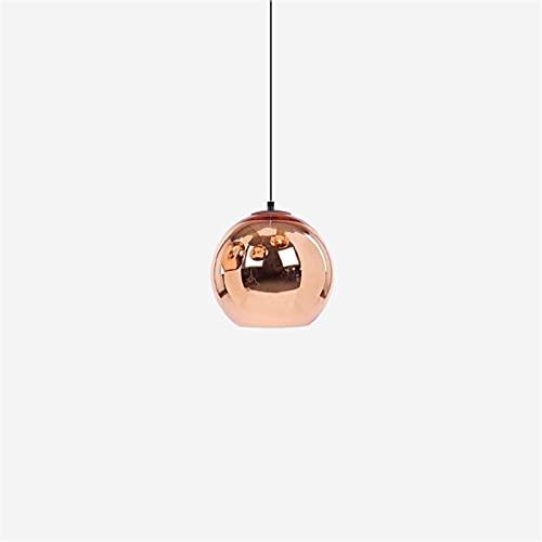 Mini Mini espejo bola E26 lámpara de araña colgante colgante luces ajustable altura retro clásico elegante colgante iluminación para comedor cocina vestíbulo de vestíbulo (Color : Bronze)