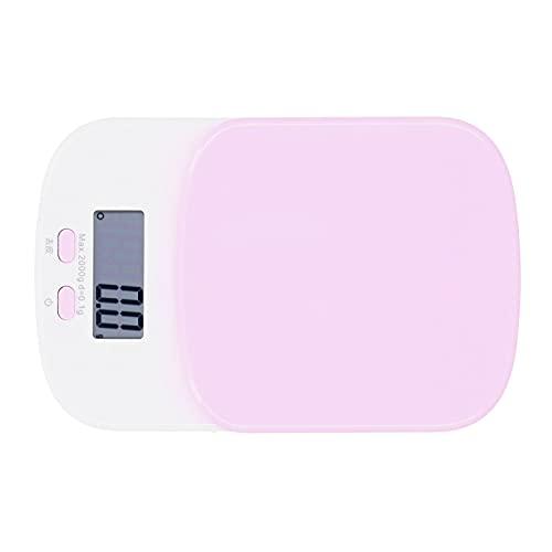Digitale keukenweegschaal, keukengerei LCD-scherm 0,1 g-2 kg Bereik voor koken, bakken, bereiden van maaltijden en afvallen(pink)